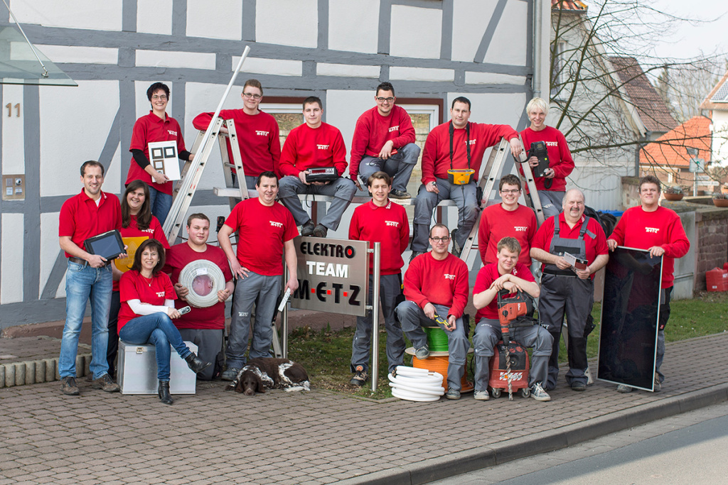Porträtfotografie, Gruppenfoto: Elektriker-Team | Foto: Dieter Eikenberg, imprints