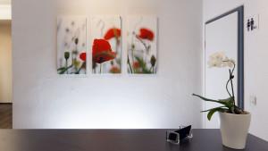 Architekturfotografie, Innenarchitektur: Arztpraxis, Rezeption   Foto: Dieter Eikenberg, imprints