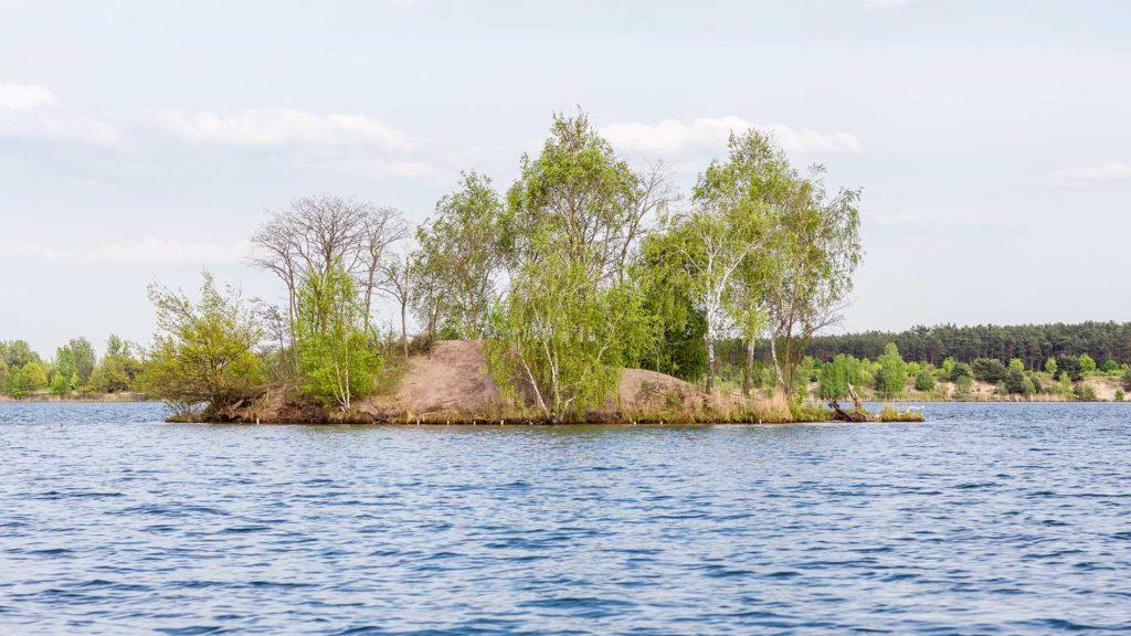 Landschaftsfotografie: Insel auf dem Bergwitzsee   Foto: Dieter Eikenberg, imprints