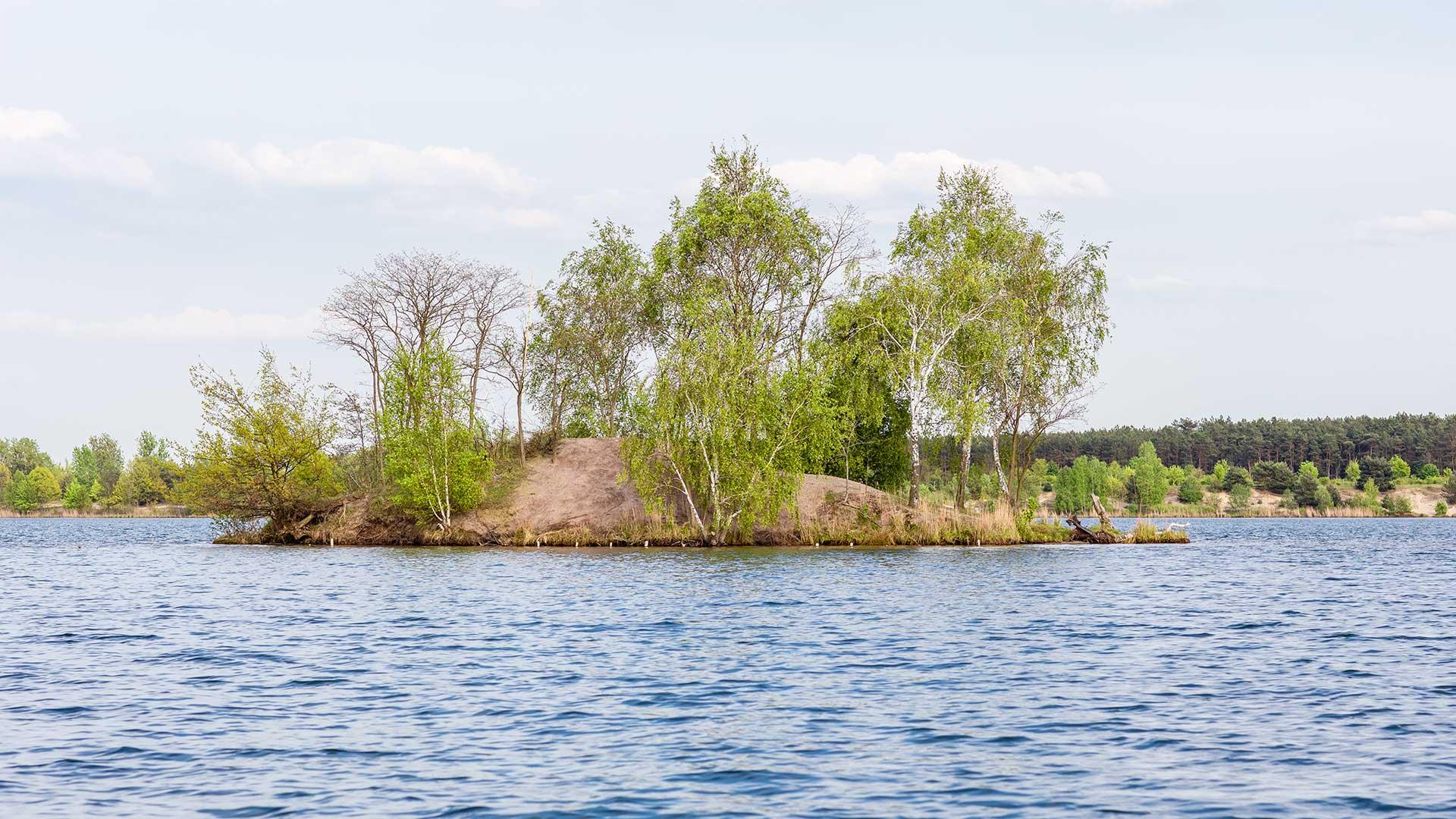 Landschaftsfotografie: Insel auf dem Bergwitzsee | Foto: Dieter Eikenberg, imprints