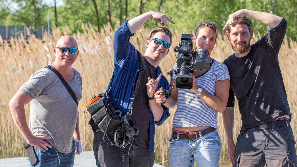 """Landschaftsfotografie, Event: ARD-Produktion """"Verrückt nach Camping"""" – TV-Team Bergwitzsee   Foto: Dieter Eikenberg, imprints"""