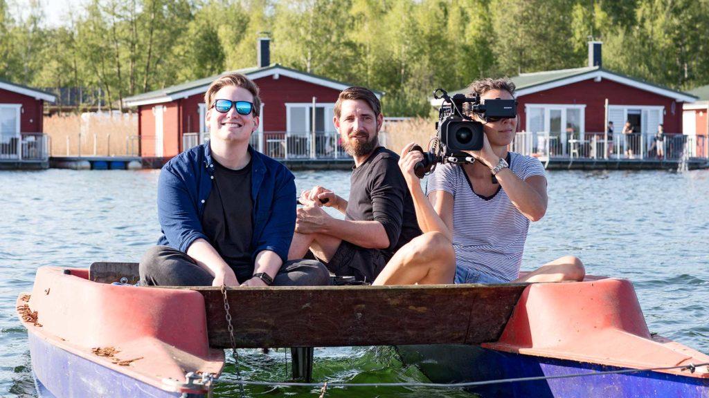 """Landschaftsfotografie, Event: ARD-TV-Produktion """"Verrückt nach Camping"""" – Bergwitzsee   Foto: Dieter Eikenberg, imprints"""