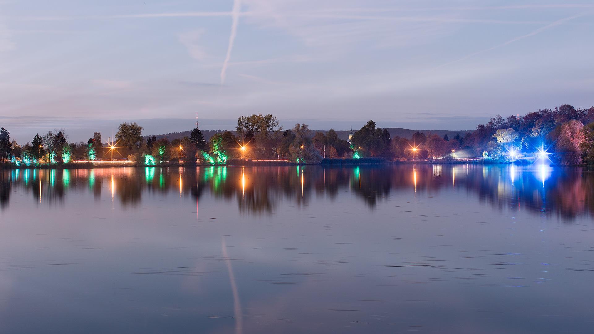 Landschaftsfotografie: Göttinger Kiessee – Lichterlauf | Foto: Dieter Eikenberg, imprints