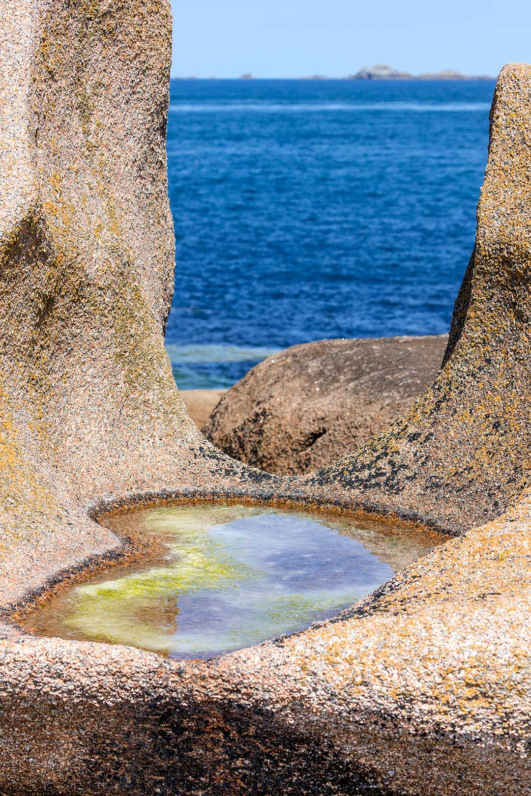 Landschaftsfotografie: Côte de Granit Rose - U-förmiger Felsen | Foto: Dieter Eikenberg, imprints