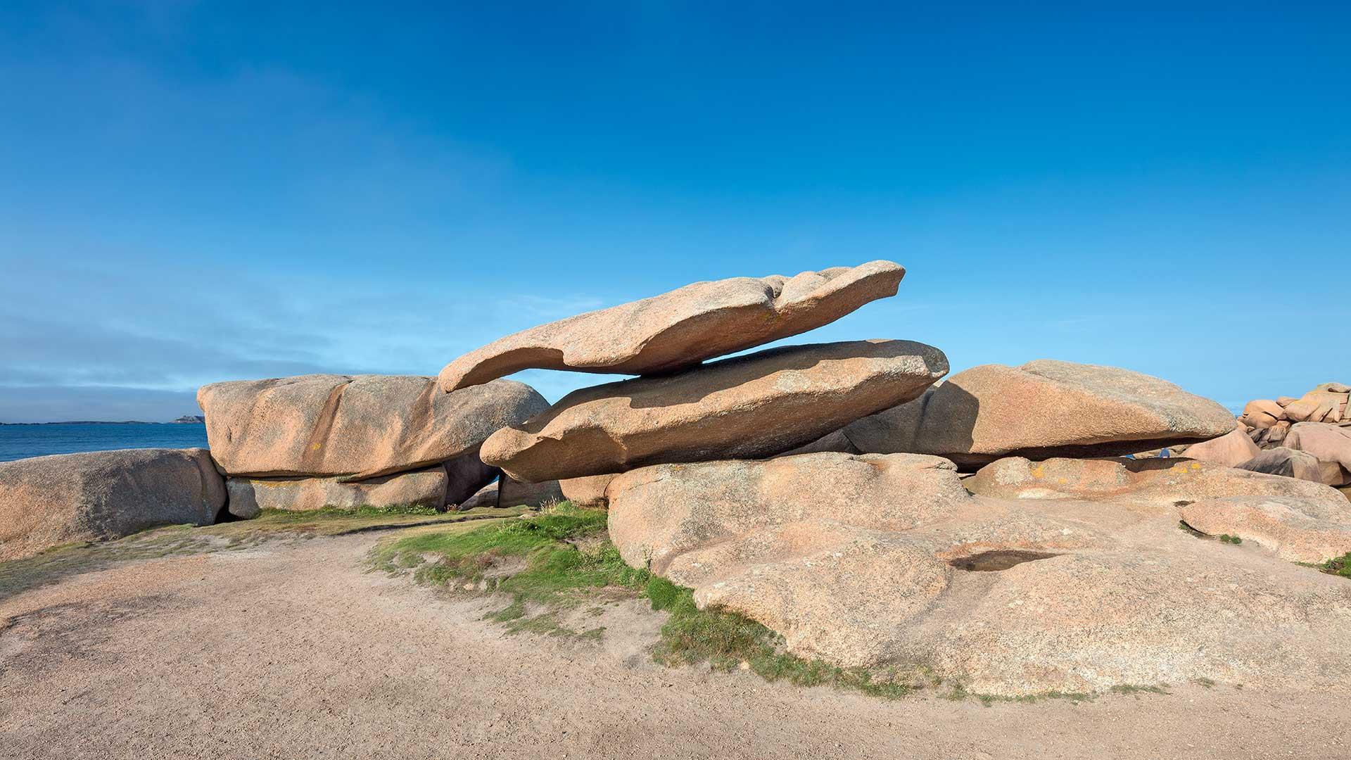 Landschaftsfotografie: Côte de Granit Rose – Fels-Balance auf der Halbinsel Renote | Foto: Dieter Eikenberg, imprints
