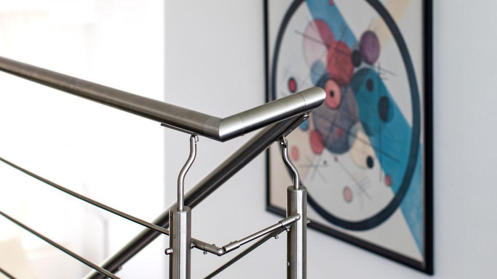 Innenarchitektur: Geländer vor Bild | Foto: Dieter Eikenberg, imprints