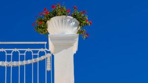 Architekturfotografie: Blumentopf Terrasse   Foto: Dieter Eikenberg, imprints