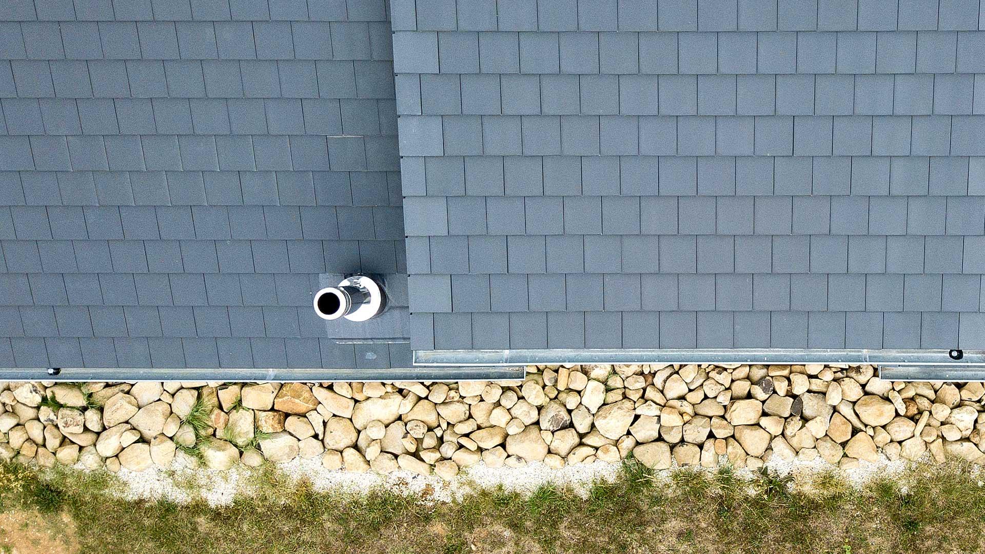 Architekturfotografie, Drohne: Luftaufnahme Dach | Foto: Dieter Eikenberg, imprints