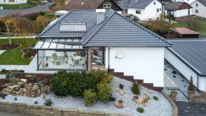 Architekturfotografie, Drohne: Luftaufnahme Haus   Foto: Dieter Eikenberg, imprints