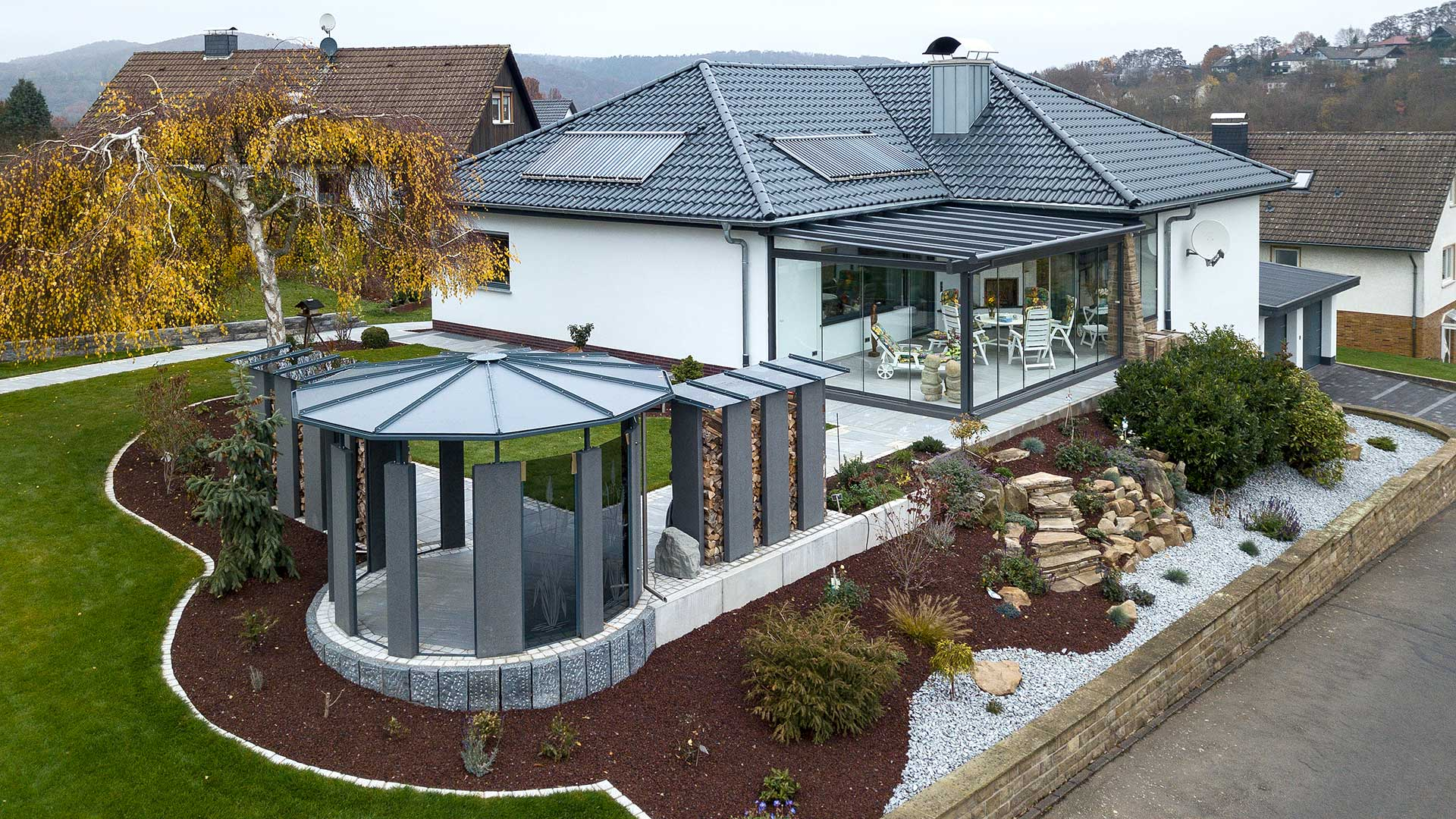 Architekturfotografie, Drohne: Luftaufnahme Haus | Foto: Dieter Eikenberg, imprints