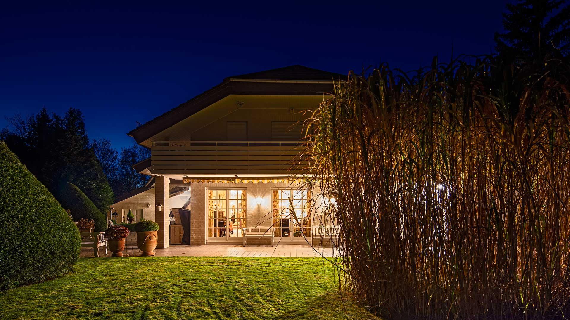 Architekturfotografie: Immobilie Nachtaufnahme | Foto: Dieter Eikenberg, imprints
