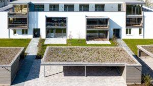 Architekturfotografie, Drohne: Luftaufnahme Neubau   Foto: Dieter Eikenberg, imprints