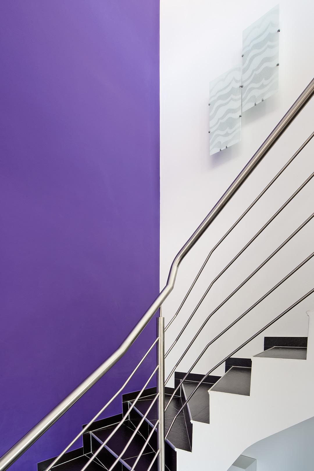 Architekturfotografie, Innenarchitektur: Treppengeländer | Foto: Dieter Eikenberg, imprints