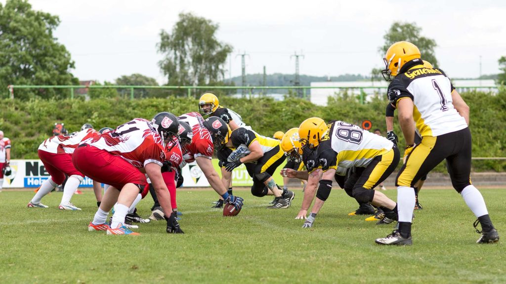 Pressefotografie, Sportfotografie: Szene American Football, Göttingen | Foto: Dieter Eikenberg, imprints