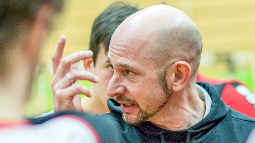 Pressefotografie, Sportfotografie: Traineransprache, Handball | Foto: Dieter Eikenberg, imprints