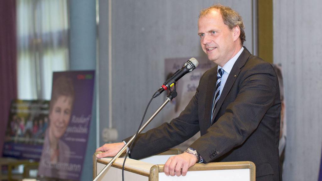 Pressefotografie, Redner: MdB Güntzler, CDU | Foto: Dieter Eikenberg, imprints