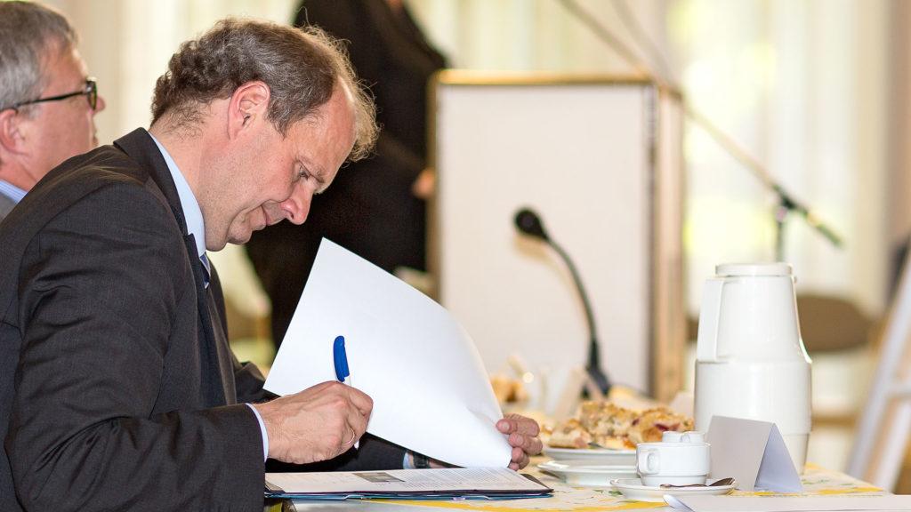 Pressefotografie, Politiker: MdB Güntzler, CDU | Foto: Dieter Eikenberg, imprints