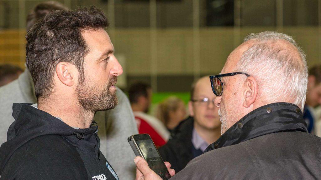Pressefotografie, TBV Lemgo: Interview mit Trainer Kehrmann | Foto: Dieter Eikenberg, imprints