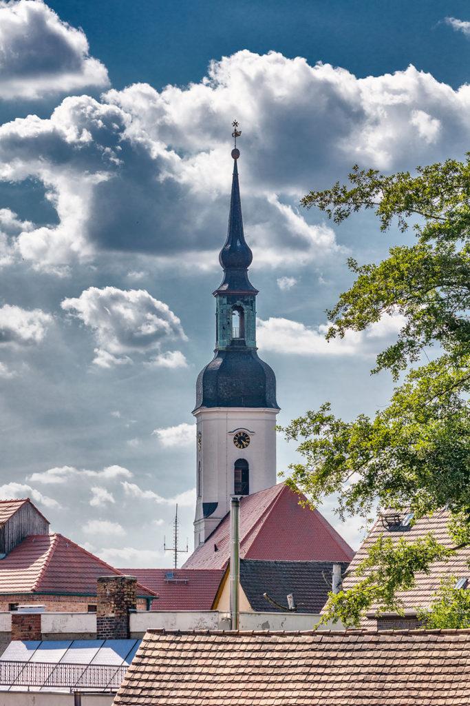 Landschaftsfotografie, Spreewald: Kirche Lübbenau | Foto: Dieter Eikenberg, imprints