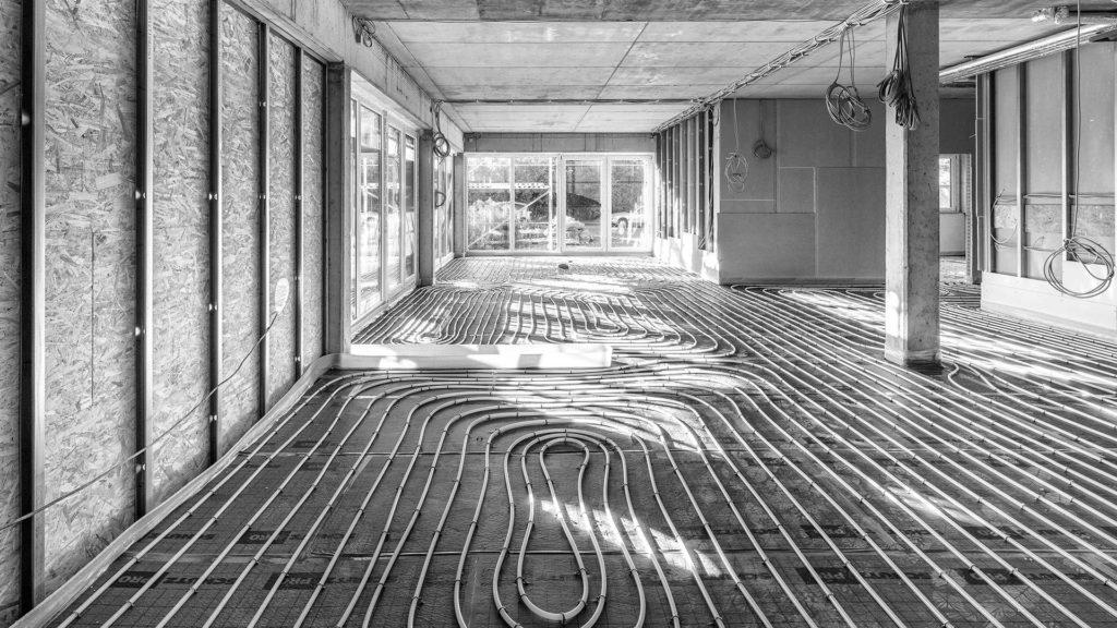 Architekturfotografie, Fußbodenheizung | Fotograf Dieter Eikenberg