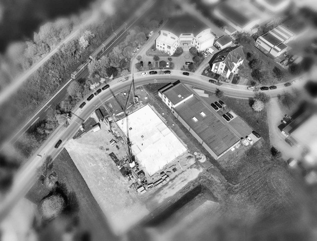 Drohneuaufnahme | Fotografische Baubegleitung | Foto: Eikenberg