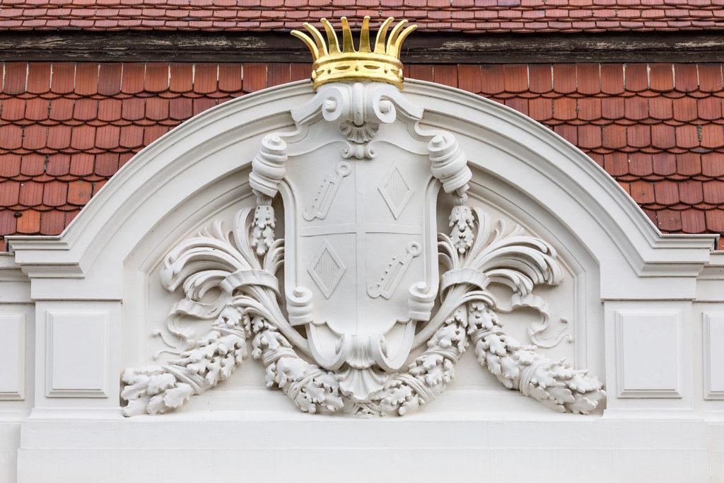 Wustrau: Zieten-Schloss - Wappen