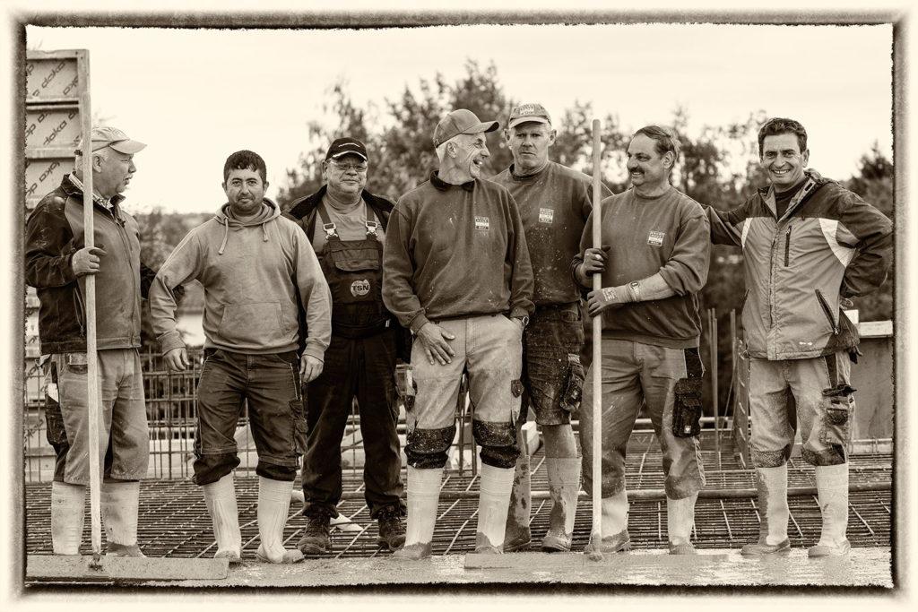 Das Team vom Bau