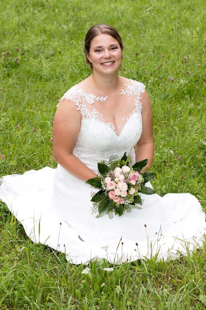Braut im Grünen