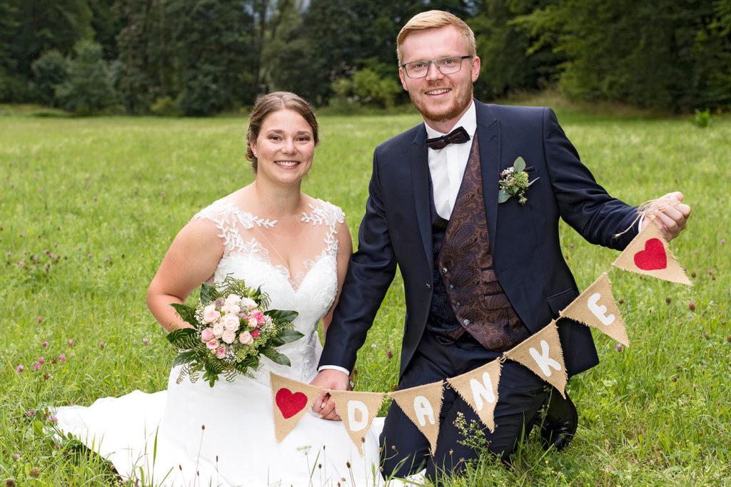 Dank des Brautpaars