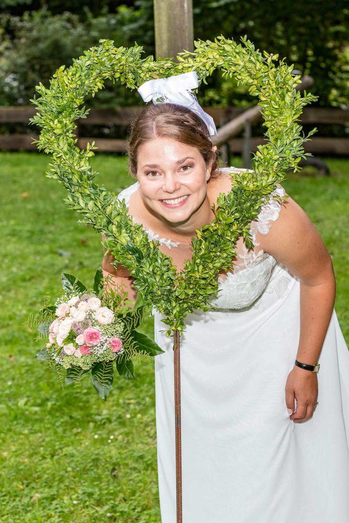 Braut mit Herz
